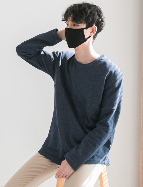LONG SLEEVE RAGLAN T-SHIRTS_NAVY